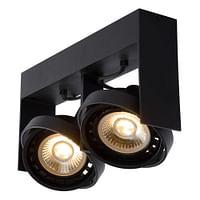Lucide LED Plafondspot Griffon GU10 2 x 12 W langwerpig zwart-Lucide