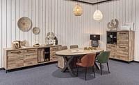 Ovale tafel Natuurlijk Parquet (K630BL)-Huismerk - O & O Trendy Wonen