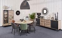 Ronde Tafel Natuurlijk Parquet (K630BL)-Huismerk - O & O Trendy Wonen