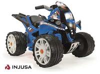 The Beast 12v quad blauw met 12 volt motor-Injusa