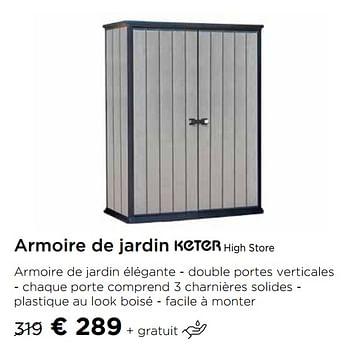 Promotion Molecule Armoire De Jardin High Store Keter Jardin Et Fleurs Valide Jusqua 4 Promobutler