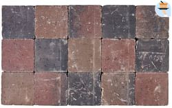 Cobogarden Klinker getrommeld 15 x 15 x 6 cm herfst