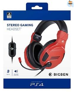 PS4 Official Stereo Gaming Headset V3 Rood