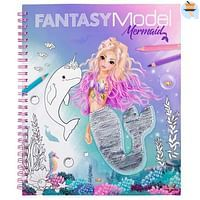 Fantasy Model kleurboek met pailletten MERMAID-Top Model