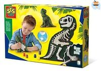 SES Gieten en schilderen - T-Rex met skelet-SES