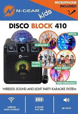 N-Gear Disco Block 410 Bluetooth Zwart