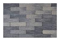 Klinker getrommeld waal 20 x 5 x 6 cm grijs/zwart-Coeck