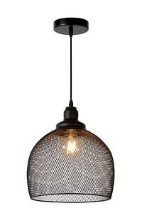 Lucide LED Hanglamp Mesh 1 x E27 zwart-Lucide