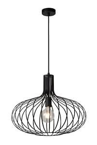Lucide LED Lustre Manuela 1 x E27 zwart Ø 50 cm-Lucide