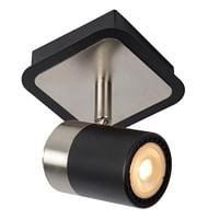 Lucide LED Plafondspot Lennert GU10 1 x 5 W vierkant zwart-Lucide