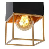 Lucide LED Plafonnière Rixt 1 x E27 vierkant zwart / goud-Lucide