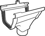 Spruitstuk rechts C140 bruin-Scala