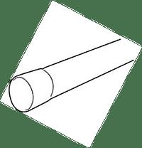 PVC Buis Coex 80 mm 4 m bruin-Scala