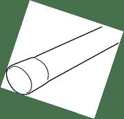 Buis PVC 80 mm - 4 m - 1,5 mm lichtgrijs-Scala