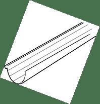 Dakgoot G 80 2 m bruin-Scala