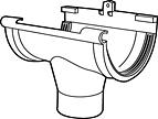 Middenspruitstuk G125 lichtgrijs-Scala