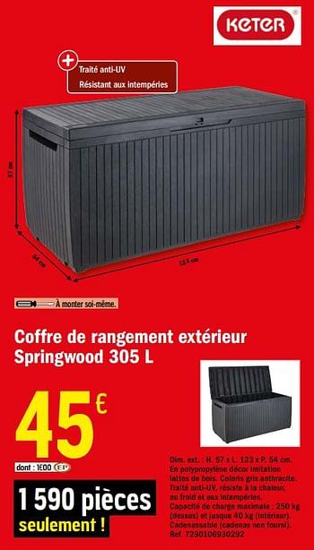 Promotion Brico Depot Coffre De Rangement Exterieur Springwood Keter Jardin Et Fleurs Valide Jusqua 4 Promobutler