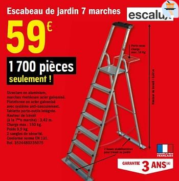 Promotion Brico Depot Escabeau De Jardin 7 Marches Escalux Construction Renovation Valide Jusqua 4 Promobutler
