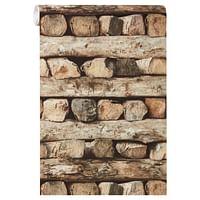 Behang Stor Bruin-Huismerk - Kwantum