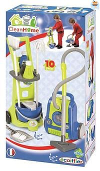 Clean Home schoonmaakwagentje met speelstofzuiger-Ecoiffier