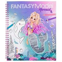Fantasy Model kleurboek met pailletten MERMAID-Top Model