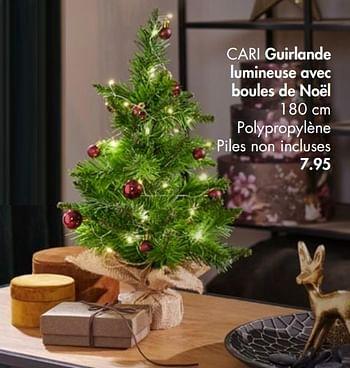 Promotion Casa Cari Guirlande Lumineuse Avec Boules De Noël Produit Maison Casa Intérieur Décoration Valide Jusquà 4 Promobutler