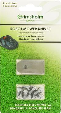 Mesjes voor robotmaaiers 9 stuks-Huismerk - Makro