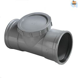 Ontstoppingsstuk 125 mm mof/spie grijs