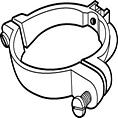 Fixo Ø 80 mm donkergrijs RAL 7037-Scala