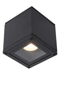 Lucide LED Plafondspot Badkamer Aven 1 x GU10 vierkant IP65 zwart-Lucide