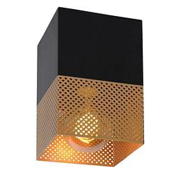 Lucide LED Plafondspot Renate 1 x E27 vierkant zwart / goud