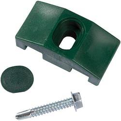 Giardino clips voor vierkante paal groen – 10 stuks