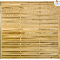 Central Park tuinscherm recht 'Gevlochten' grenenhout bruin 180 x 180 cm-No Name