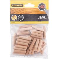 Stanley ronde houtdeuvels - 40 stuks-Stanley