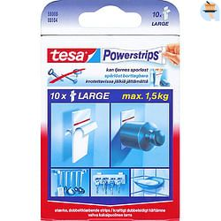 Tesa tape 'Powerstrips' large wit - 10 stuks
