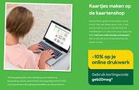 -10% op je online drukwerk-Huismerk - Ava