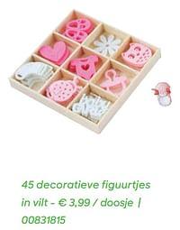 45 decoratieve figuurtjes in vilt-Huismerk - Ava