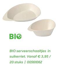 Bio serveerschaaltjes in suikerriet.-Huismerk - Ava