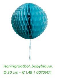 Honingraatbol, babyblauw,-Huismerk - Ava