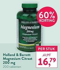Holland + barrett magnesium citraat-Huismerk - Holland & Barrett