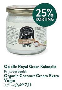 Organic coconut cream extra virgin-Royal Green