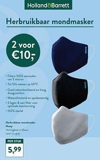 Herbruikbaar mondmasker masqi-Huismerk - Holland & Barrett