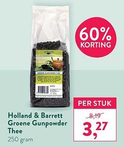 Holland + barrett groene gunpowder thee