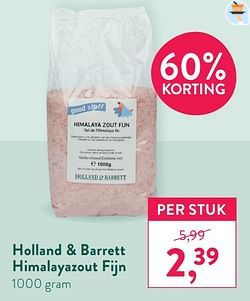 Holland + barrett himalayazout fijn