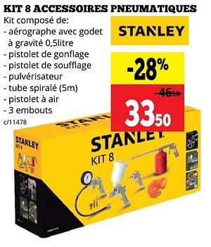 Stanley kit 8 accessoires pneumatiques