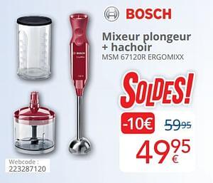 Bosch mixeur plongeur + hachoir msm 67120r ergomixx