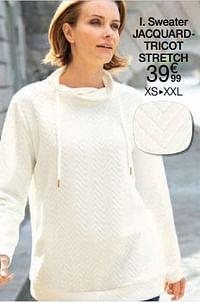 Sweater jacquard - tricot stretch-Huismerk - Damart