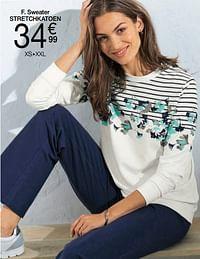 Sweater stretchkatoen-Huismerk - Damart