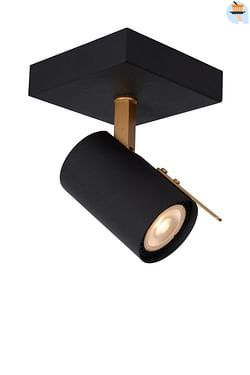 Lucide LED Wandlamp Grony GU10 1 x 5 W vierkant zwart