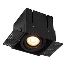 Lucide LED Inbouwspot Trimless 1 x GU10 rechthoekig zwart
